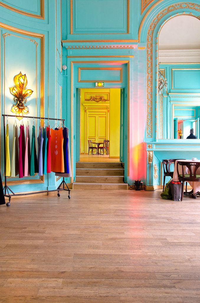 Le salon bleu - Maxim's, Elysees-Madeleine, Paris, Ile-de-France