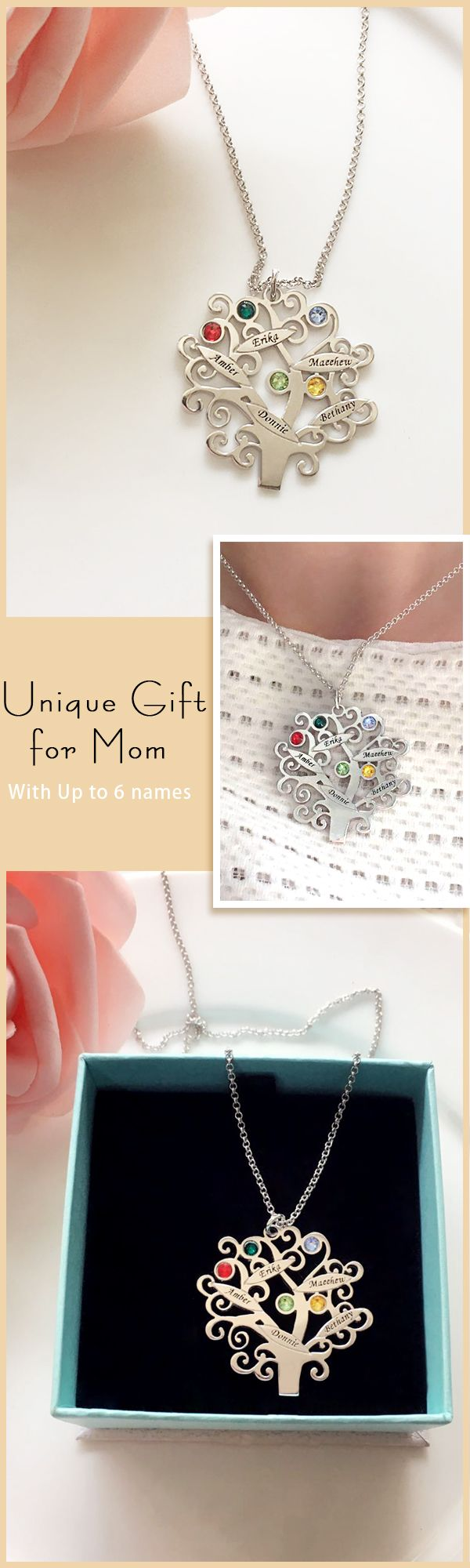Family tree charm that's perfect for celebrating families, special moments and everything in between. ❤Find completely special Gift for your mom from getnameneckalce
