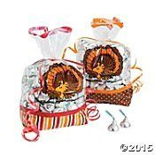 Peanuts Thanksgiving Party Loot Cellophane Bags Woodstock As Turkey (1 Pack, 12 Bags)