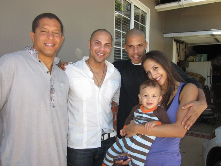 Christel Khalil with her brothers. L to R: Alex, Adam and ...