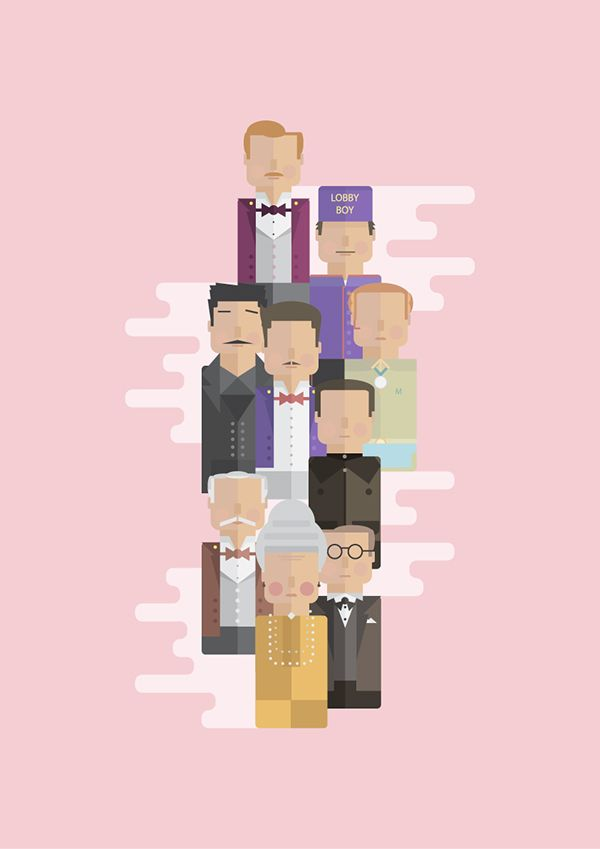 The Grand Budapest Characters ~ Art by George Townley #amusementphile