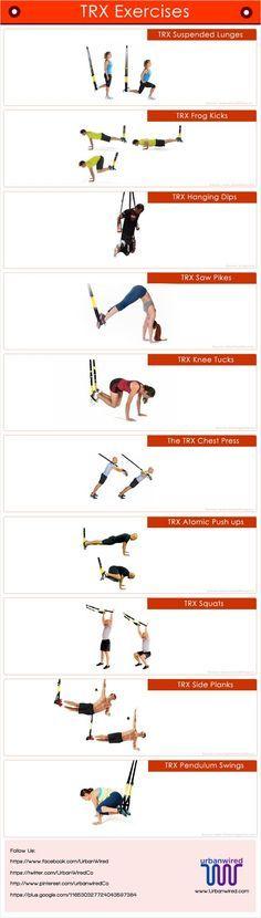 Types of TRX Core exercises #workouts #exercises https://www.booyafitness.com/