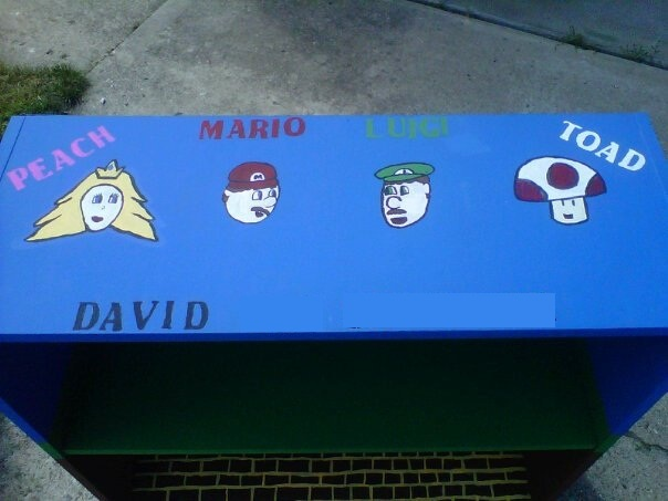 Mario Bookshelf (Top): Mario Bookshelf, Bookshelf Tops, David Things
