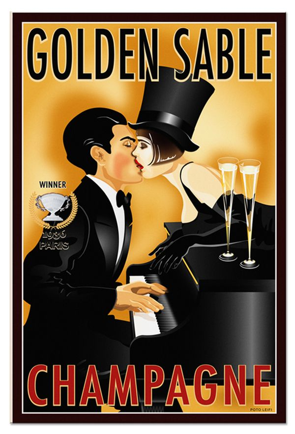 GOLDEN SABLE CHAMPAGNE | VINTAGE WINE SERIES by Poto Leifi, via Behance