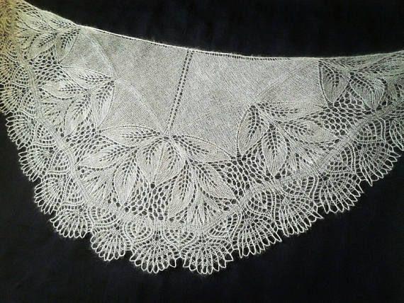 Wedding Shawl Gray Kid Mohair Silk Blend Yarn Knitting Lace