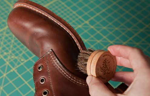 Then, take special care to focus on the seam where the upper meets the sole.