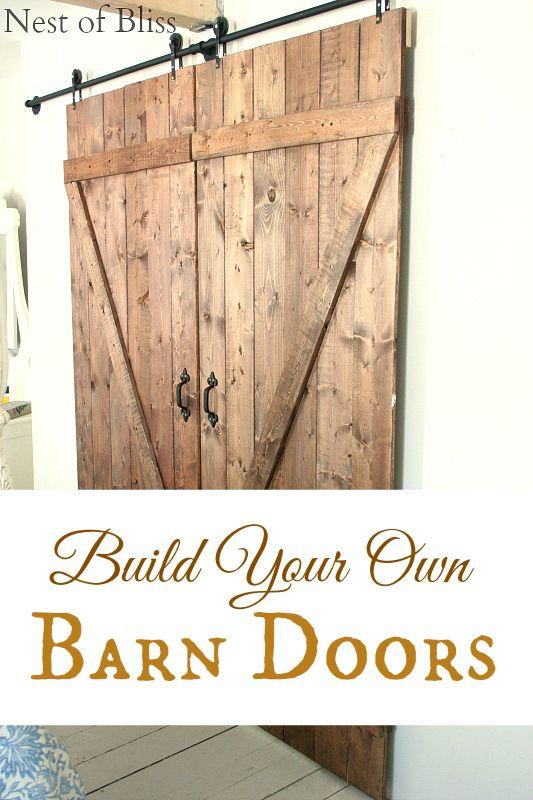DIY Sliding Barn Doors - (Nest of Bliss)