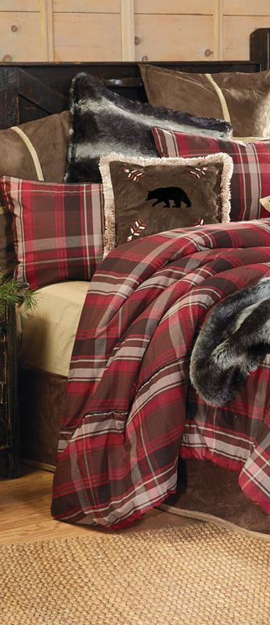 Lodge Retreat Log Cabin Bedding- cozy for a winter night!
