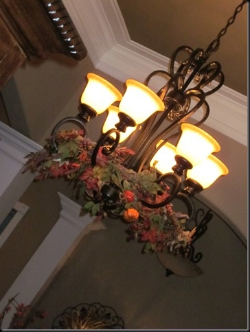 Fall decoration ideas, fall chandelier, home decorations,