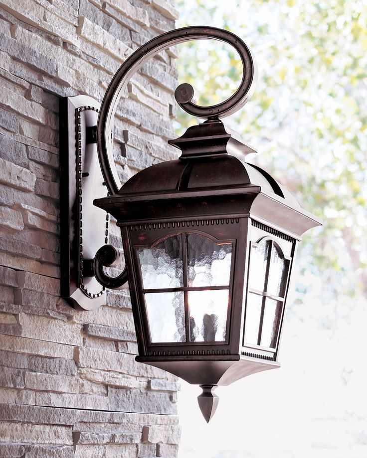 Colonial three light wall lantern wall lantern water for Outdoor colonial lighting