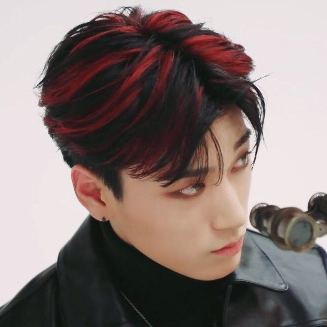 Ateez Red Hair Kpop Aesthetic San