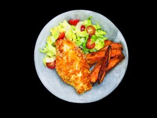The Nutrition Guru: Guilt-Free Southern Style Chicken with Sweet Potato Chips