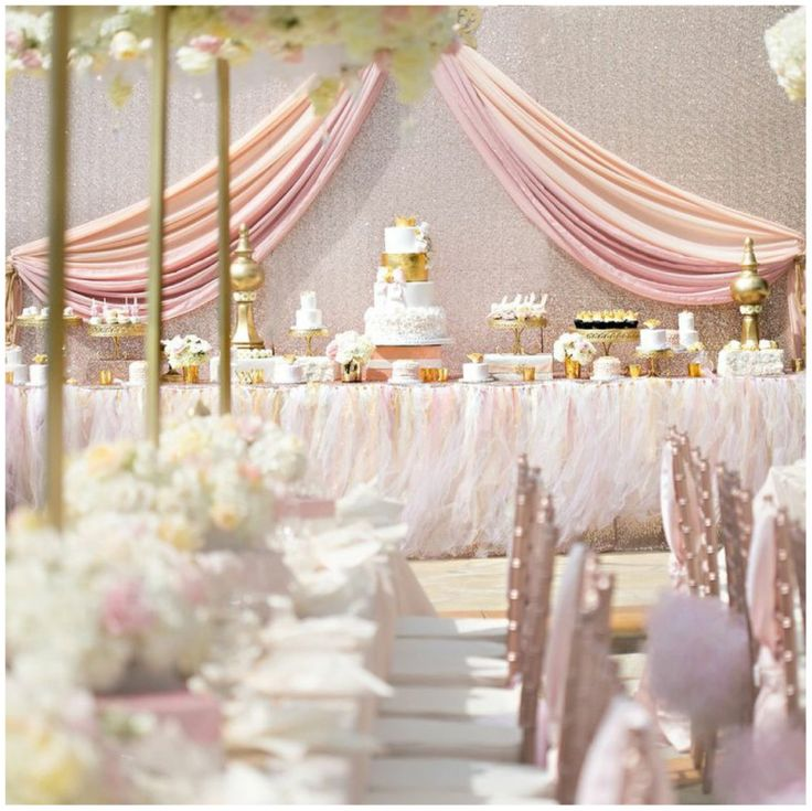 Sweet Soft Pink And Gold Baby Shower | Details Details   Wedding And Event  Planning