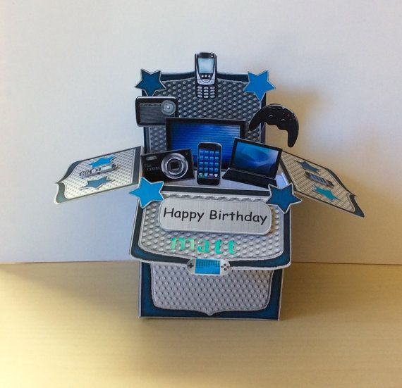 Gadgets & Gizmo's Pop Up Box Card  Gadgets by TheBlenheimCardCo