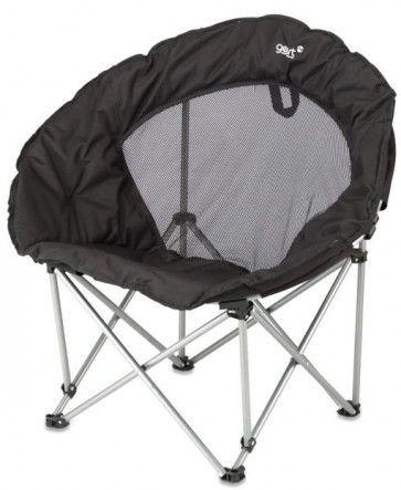 #Moon chair 'Black' Verwen je achterwerk met deze Caldera Moon chair van Gelert Outdoor, een ware lounge zetel die je toch compact kan opplooien.  Gewicht: 4,3 kg http://www.festivalking.com/be/moon-chair-camping-stoel-stoeltje-festival.html
