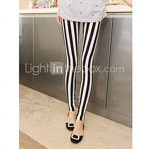 Women's Black-white Stripe Leggings 2016 - $5.99