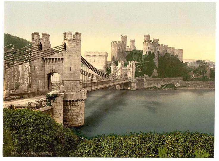 Замок  Конвей.  В 1277 году Эдуард  I   завоевал Уэльс и превратил его в очередное владение британской короны. Более того, чтобы держать в узде местных жителей, Эдуард построил не один, а целых восемь замков – своего рода «железное кольцо» для покоренных уэльсцев, пять из которых защищали города, построенные вместе с ними. Возвели его в 1283 – 1289 гг., а уже зимой 1294 – 1295 гг. он выдержал осаду мятежника Мадога Ллевеллина, служил временным пристанищем для Ричарда II в 1399 году.
