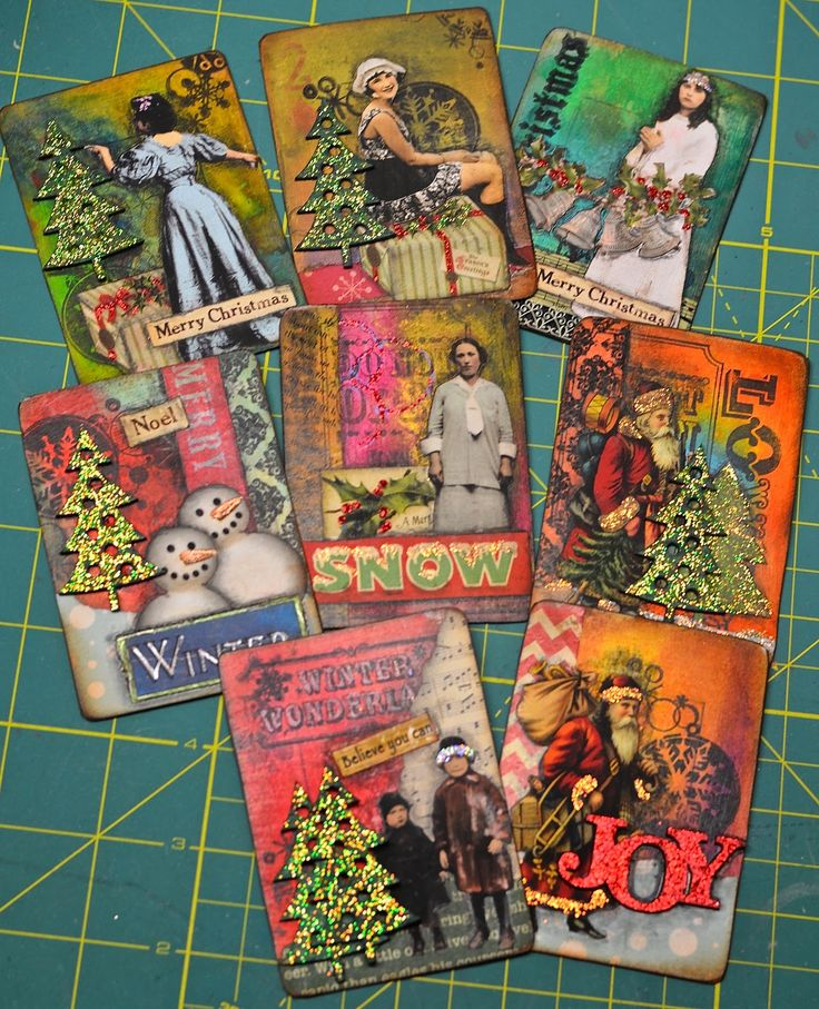 ATC / ACEO ART CARDS Making dolls by MollyFitzDesigns