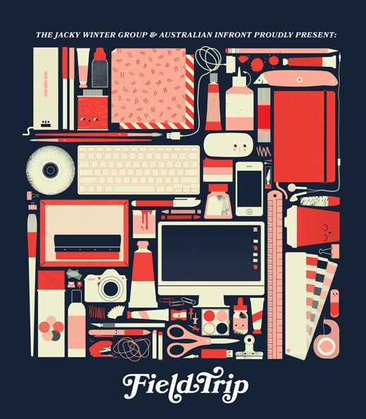 Field Trip!  A new creative conference from The Jacky Winter Group and Australian INfront.  Amazing website illustration / design by Beci Orpin.