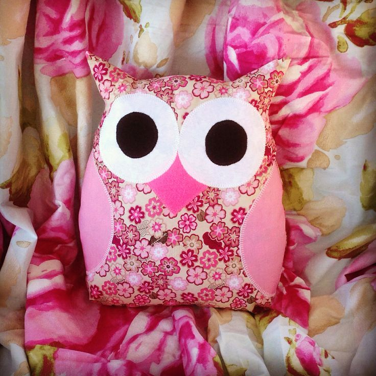 Pink Floral Owl from Purple Patch Art and Crafts