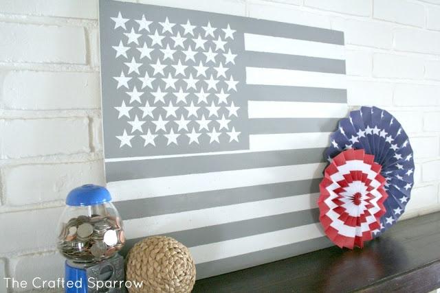 American Flag Art - like the neutral look