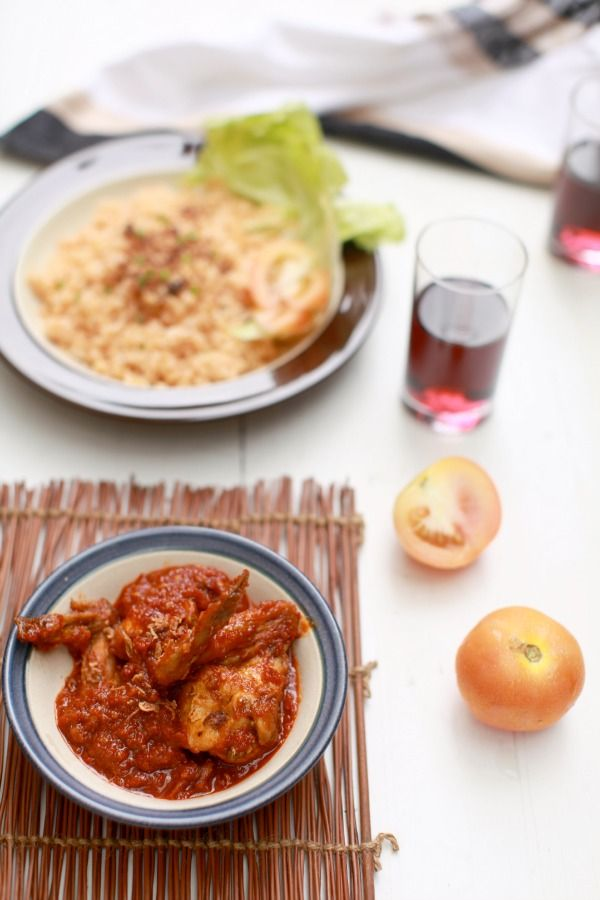 masam manis: Nasi Tomato dan Ayam Masak Merah