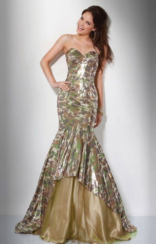Jovani Camo Prom Dress / Camo Homecoming Dress 2012