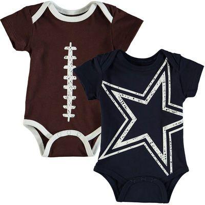 Newborn & Infant Dallas Cowboys Navy/Brown Meeks 2-Pack Bodysuit Set