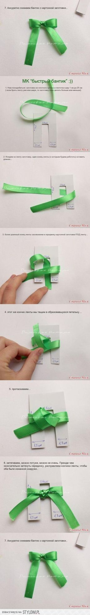 DIY Easy Ribbon Bow DIY Projects | UsefulDIY.com na Stylowi.pl