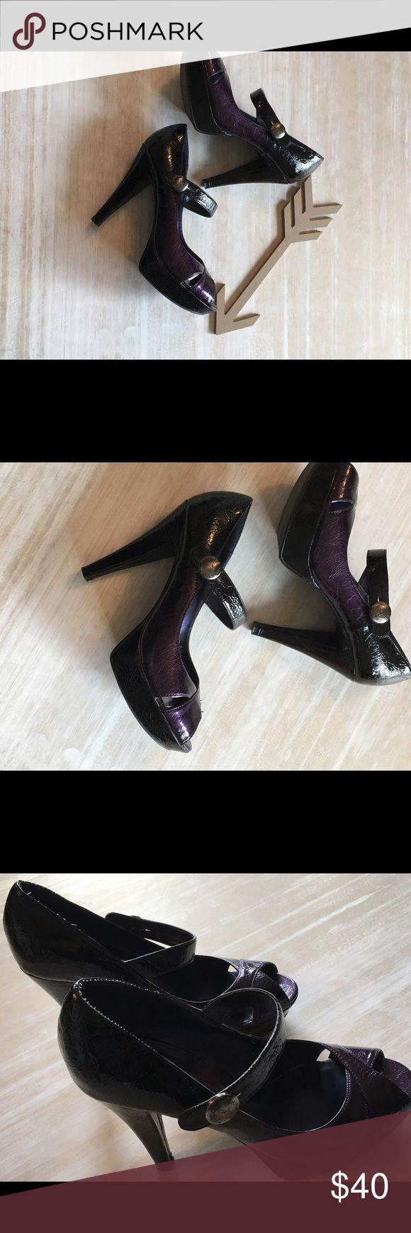 BNWT black and purple Chinese Laundry heels Black fades into purple heels Chinese Laundry Shoes Heels
