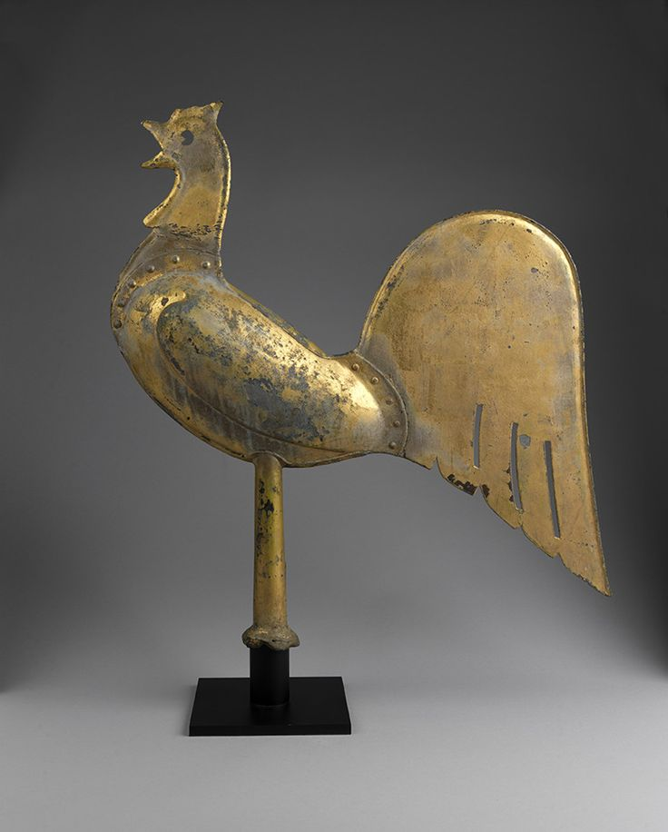 Rare Full Bodied Stylised Cockerel Weathervane, Continental, C.1840.
