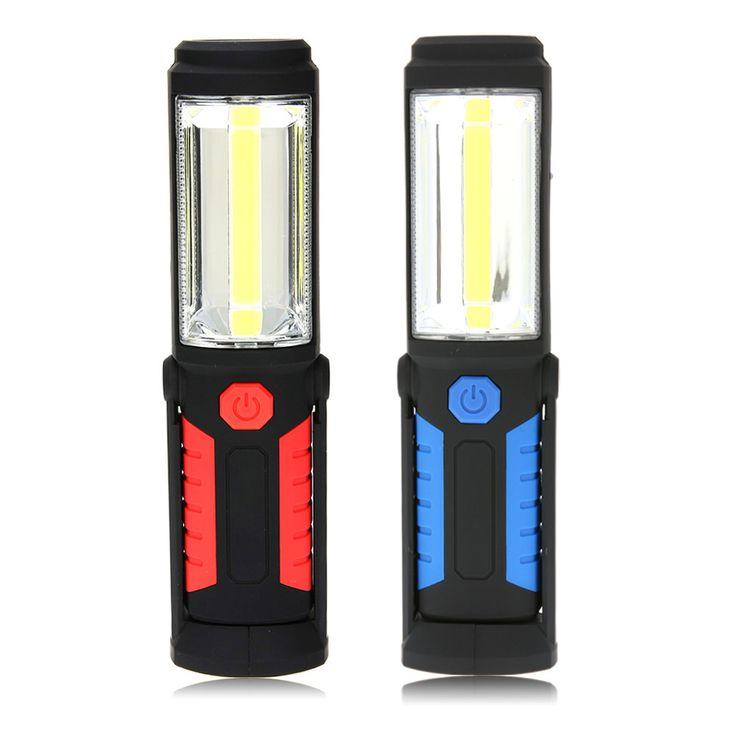 3W 360 Lighting LED Maintenance Camping Lamp Emergency Flashlight Magnetic Torch Handle Work Light Car Emergency Lamp #Affiliate