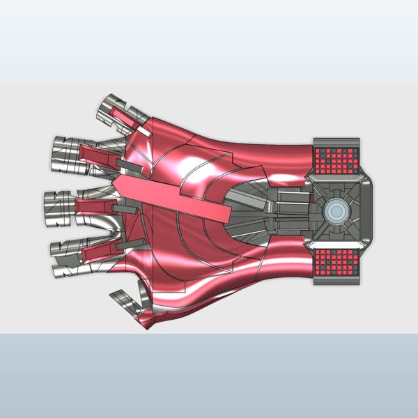 Iron man watch glove 3D model  (Project)