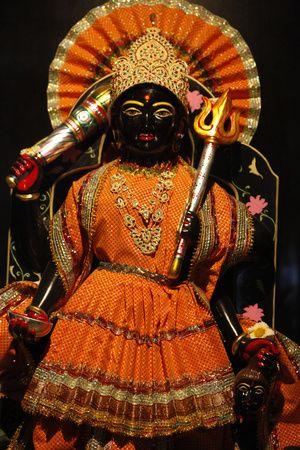 Statue of Goddess Kali (Durga) in a Hardwar Temple