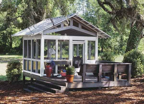 1000 ideas about screened in gazebo on pinterest for Small pond house plans