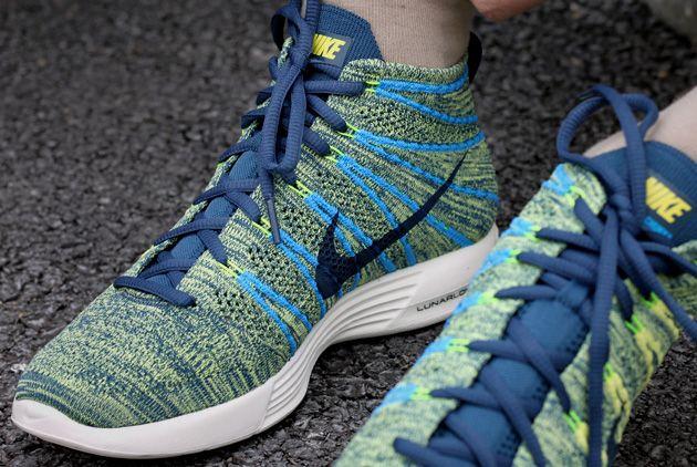 #Nike Lunar #Flyknit Chukka Squadron Blue - Yellow