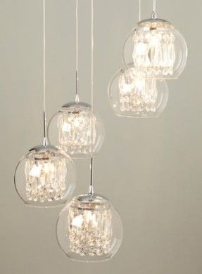 glass u0026 crystal spiral pendant chandelier ceiling lights home lighting u0026 furniture - Glass Pendant Lighting