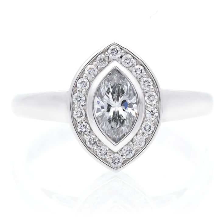 18K White Gold Diamond Ring For Sale by Uwe Koetter.    www.uwekoetter.com