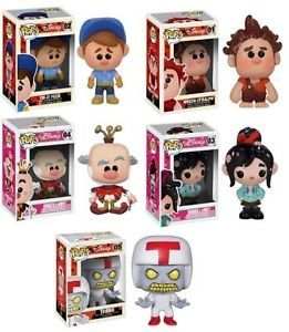 Wreck It Ralph Disney Funko Pop Vinyl Figures Set of 5 Turbo King Candy | eBay