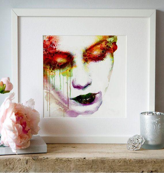 Watercolor Digital portraits Digital art Eyes shut by Artsyndrome