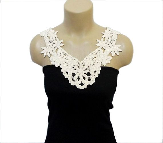 Handmade Collar Handmade Cotton Crochet Lace Collar by HAREMDESIGN, $38.00
