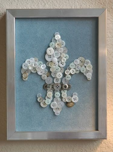 this would be perfect in my house <3: Button Art, Buttons Crafts, Buttons Buttons, Buttons Art, Cute Ideas, Button Crafts, Buttons Fleur, Fleur De Lis, Diy