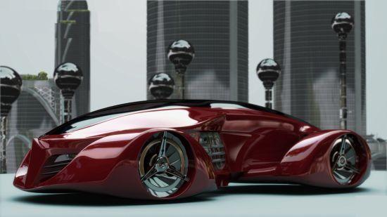 Hydrogen-electric hybrid H Car integrates windmills in the wheels