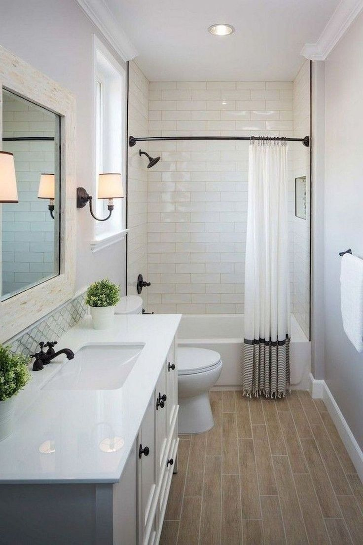57 Affordable Modern Farmhouse Bathroom Remodel Ideas Modernbathroomremodel Modernfarmhouseb Small Farmhouse Bathroom Bathroom Remodel Master Simple Bathroom