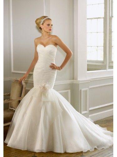 Organza Sweetheart Mermaid Wedding Dress