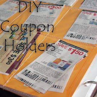 DIY Coupon Holders