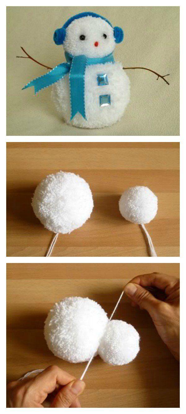 DIY Adorable Pom-Pom Snowman                                                                                                                                                                                 More