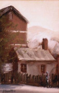 Sofala NSW - Oil on canvas board - Artist John Beattie