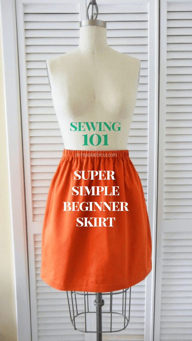 Beginner Skirt Sewing Tutorial