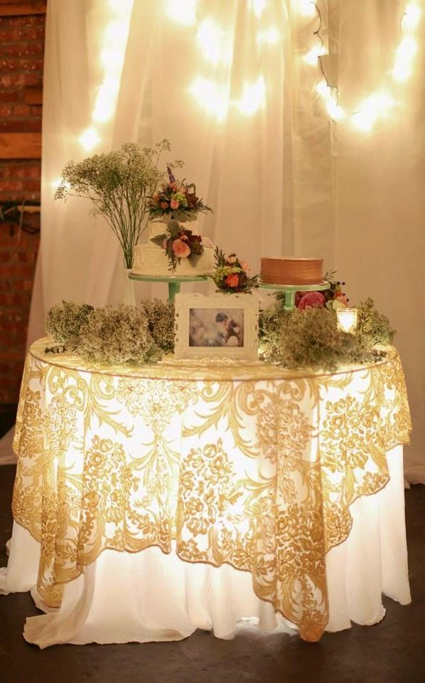 Ahh! I Iove the glow coming through the lacy table cloth!